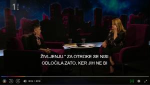 Alenka Čurin Janžekovič v oddaji Zvezdane Mlakar